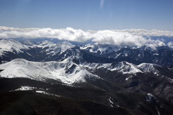 Aerial of Columbine Hondo in Winter